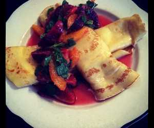 Vanilla Crepe Blood Orange